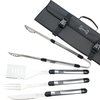 Top Chef Stainless Steel BBQ 5-piece Set - N/A