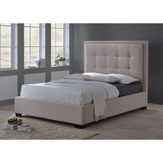 LuXeo Montecito King Palazzo Mist Khaki Fabric Upholstered Bed