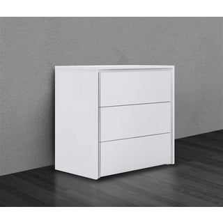 ZEN Collection High Gloss White Lacquer Tall Dresser/ Nightstand by Casabianca Home