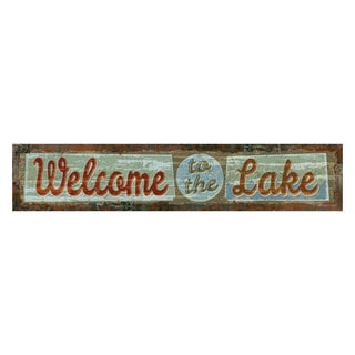 Rivers Edge Products Heavy Metal Sign Welcome To The Lake