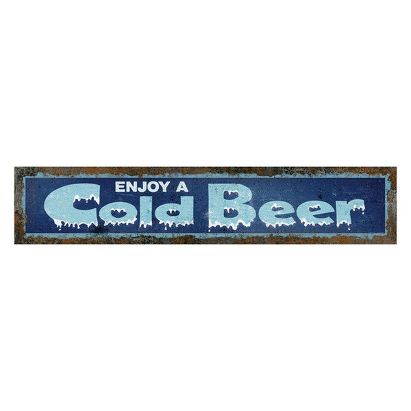 Rivers Edge Products Heavy Metal Sign Cold Beer