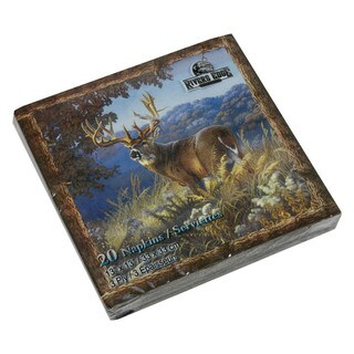 Rivers Edge Products Napkins Deer (Pack of 20)