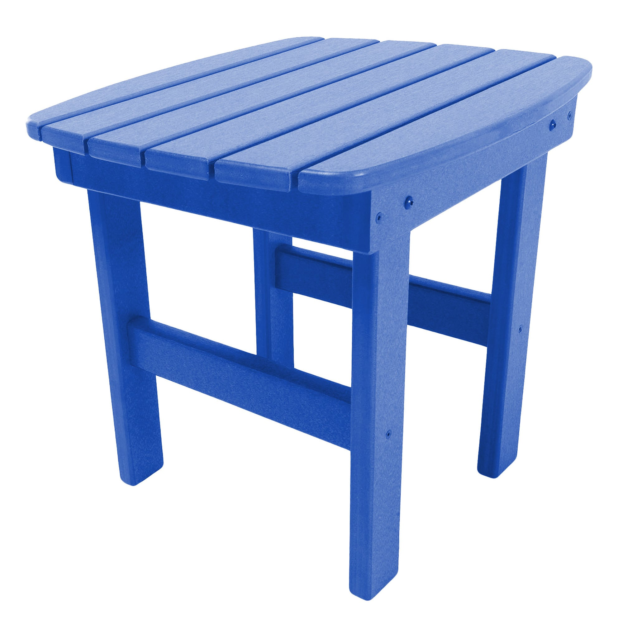 Adirondack Side Table in Blue (blue), Patio Furniture (Wood)