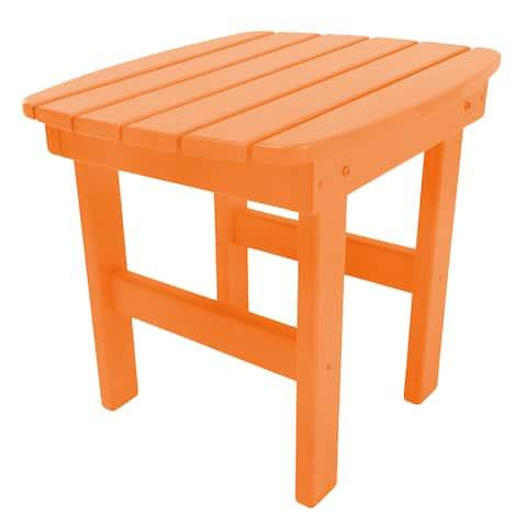 Adirondack Side Table in a Orange Finish