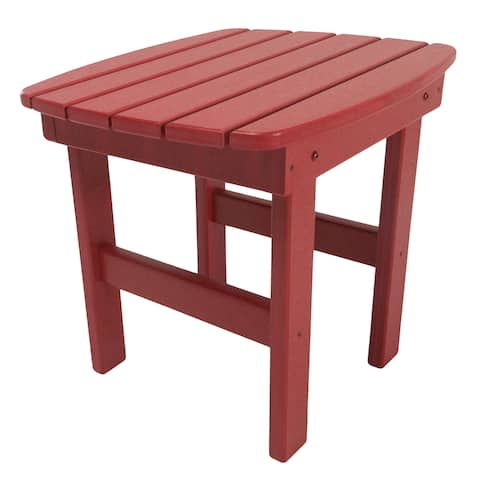 Adirondack Side Table in a Red Finish