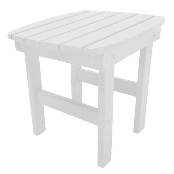 Havenside Home Key West Adirondack Side Table in a White Finish