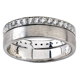Diamonds for a Cure 18k White Gold 3/4ct TDW Diamond Eternity Band (G-H, VS1-VS2) (Size 7)
