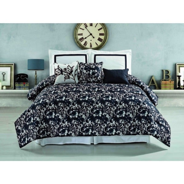 Hotel Pierre 6-piece Reversible Comforter Set