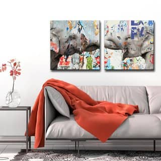 Ready2HangArt 'Saddle Ink Elephant VI' Canvas Wall Art|https://ak1.ostkcdn.com/images/products/10379486/P17484907.jpg?impolicy=medium