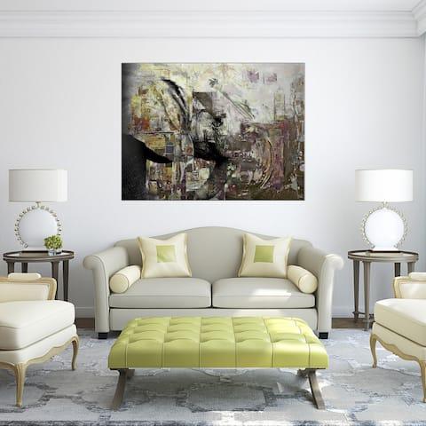 Ready2HangArt 'Saddle Ink Elephant II' Abstract Animal Canvas Art