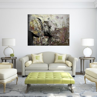 Ready2HangArt 'Saddle Ink Elephant II' Canvas Wall Art