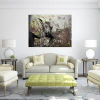 Ready2HangArt 'Saddle Ink Elephant II' Canvas Wall Art