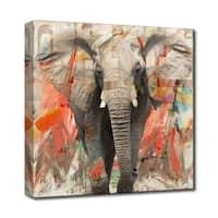 Ready2HangArt 'Saddle Ink Elephant I' Canvas Wall Art - Grey