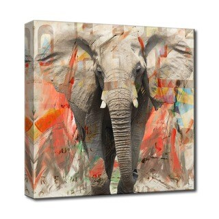 Ready2HangArt 'Saddle Ink Elephant I' Canvas Wall Art - Grey