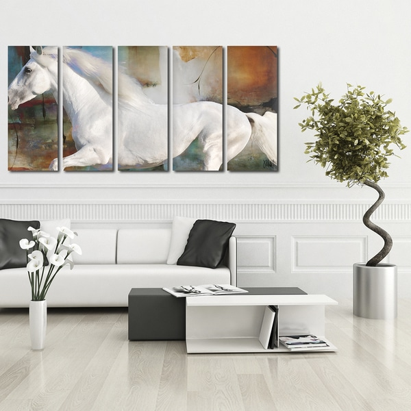 Shop Ready2HangArt \'Equestrian Saddle Ink PSXVIII\' 5-PC Canvas Wall ...