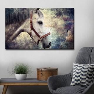 Ready2HangArt 'Equestrian Saddle Ink PSXIV' Canvas Wall Art - White