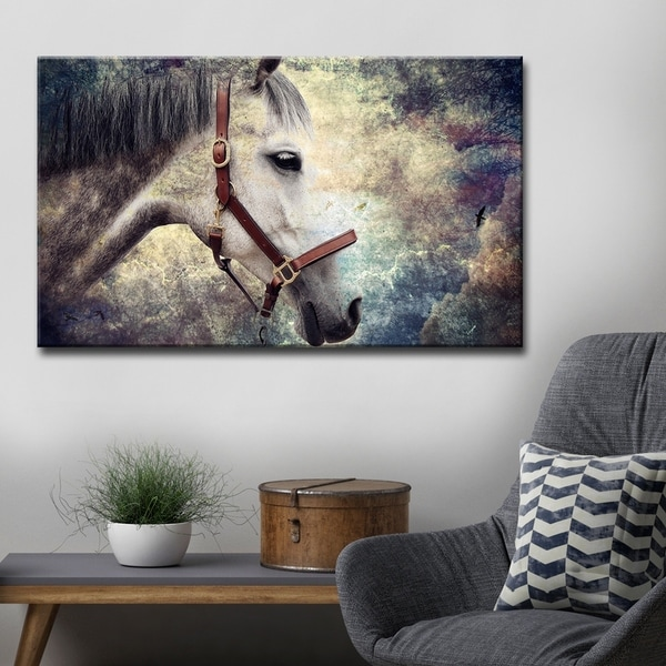 Shop Ready2HangArt \'Equestrian Saddle Ink PSXIV\' Canvas Wall Art ...