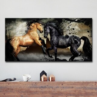 Ready2HangArt 'Equestrian Saddle Ink PPI' Canvas Wall Art - Black