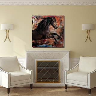 Ready2HangArt 'Equestrian Saddle Ink II' Canvas Wall Art