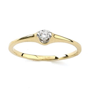 Diamonds for a Cure 18k Yellow Gold 1/10ct TDW Diamond Ring (5 options available)
