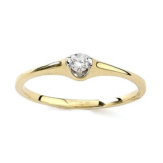Diamonds for a Cure 18k Yellow Gold 1/10ct TDW Diamond Ring