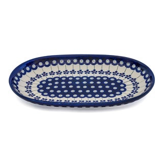 Handmade Stoneware Small Platter (Poland)