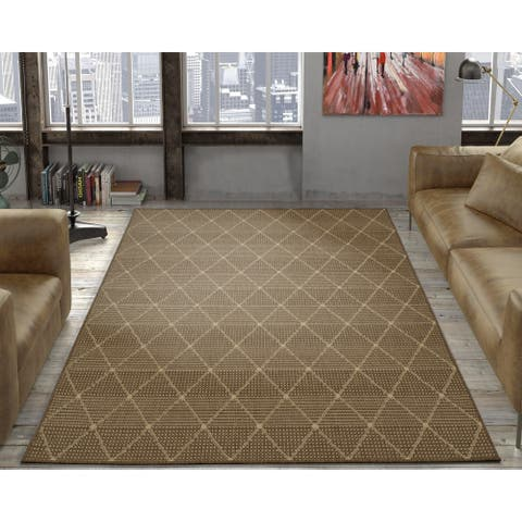 Ottomanson Jardin Low-Pile Flat Weave Indoor/Outdoor Area Rug