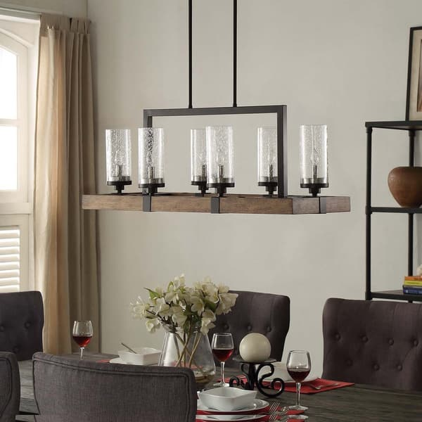 Shop The Gray Barn Vineyard Metal And Wood 6 Light