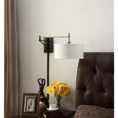I Love Living Antique Br And Bronze Swing Arm Wall Sconce Fixture