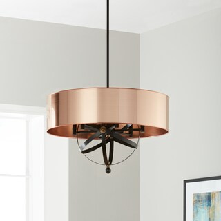 Oliver & James Copper Orb 6-light Pendant