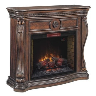 Lexington Classic Flame 33-inch Empire Cherry Fireplace Mantel