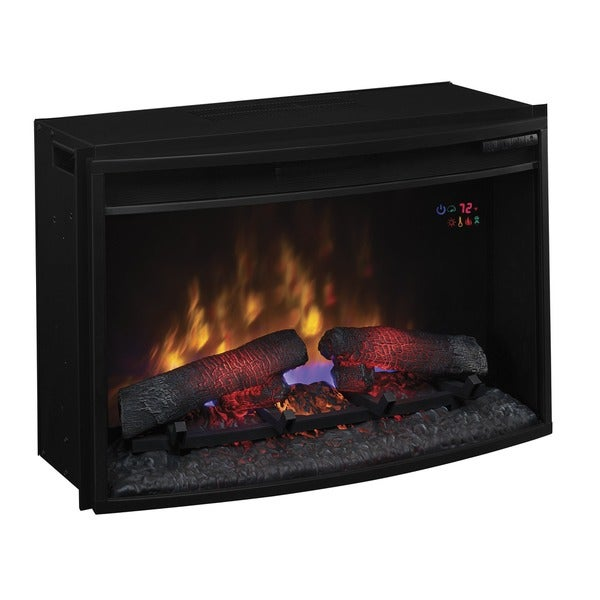 Plug In Electric Fireplace Inserts: Shop ClassicFlame 25EF031GRP 25-inch Curved Electric