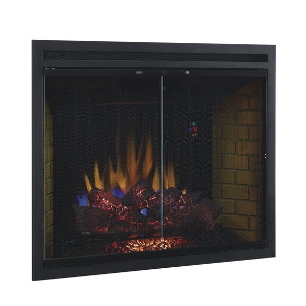 ClassicFlame 39EB500GRS 39 Inch Traditional Built In Dual Voltage Electric Fireplace  Insert With Glass