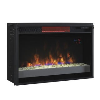ClassicFlame 26II310GRG-201 26-inch Contemporary Infrared Quartz Fireplace Insert with Safer Plug