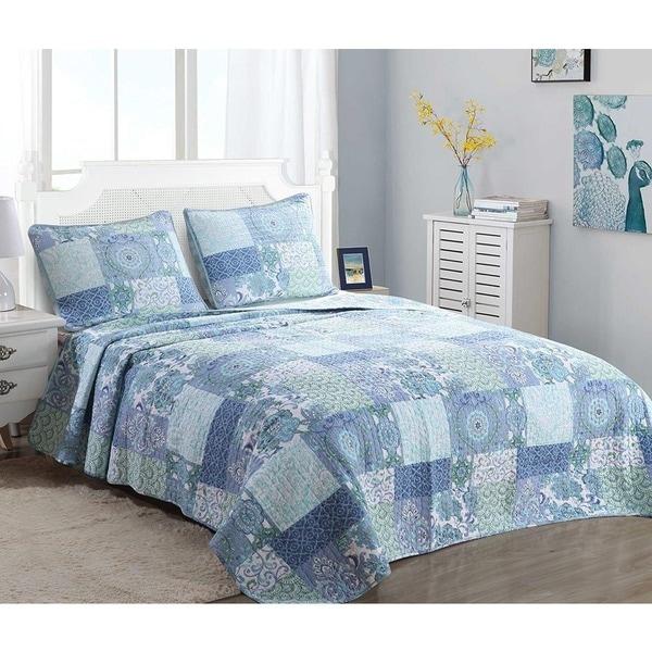 Cozy Line Windfall Cotton 3-piece Quilt Set