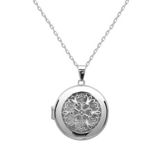 La Preciosa Sterling Silver Designed Circle Locket