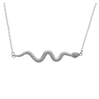 La Preciosa Sterling Silver Snake Necklace