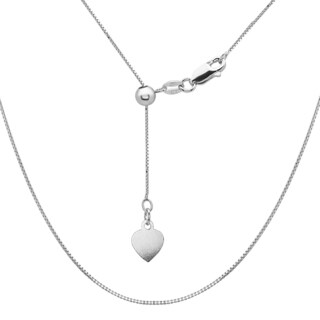 La Preciosa Sterling Silver Adjustable Box Heart Bolo Chain