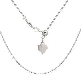 La Preciosa Sterling Silver Adjustable Snake Bolo Chain