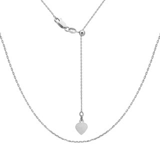 La Preciosa Sterling Silver Adjustable Cable Heart Bolo Chain