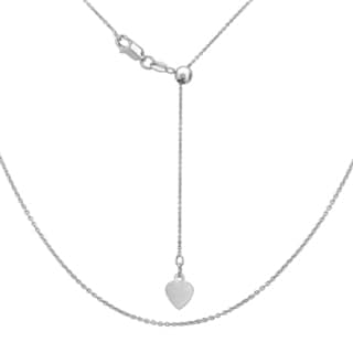 La Preciosa Sterling Silver Adjustable Rolo Heart Chain