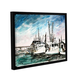 ArtWall Derek Mccrea 'Boats Painting' Gallery-wrapped Floater-framed Canvas