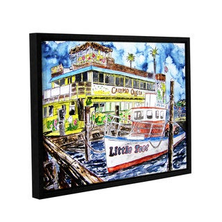 ArtWall Derek Mccrea 'Clearwater Boat Painting' Gallery-wrapped Floater-framed Canvas