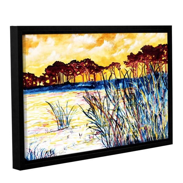 ArtWall Derek Mccrea 'Coastal Pines' Gallery-wrapped Floater-framed Canvas