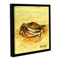 ArtWall Derek Mccrea 'Crab ' Gallery-wrapped Floater-framed Canvas - Multi