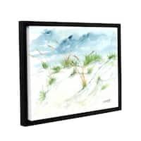 ArtWall Derek Mccrea 'Dunes' Gallery-wrapped Floater-framed Canvas