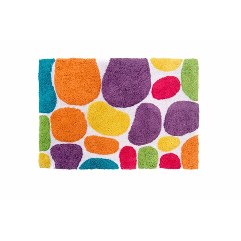 Pebbles Brights 24 x 36 Bath Runner - Rainbow Multi with Bonus Step Out Mat