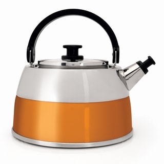 BergHOFF Virgo 2.5-liter Orange Whistling Tea Kettle