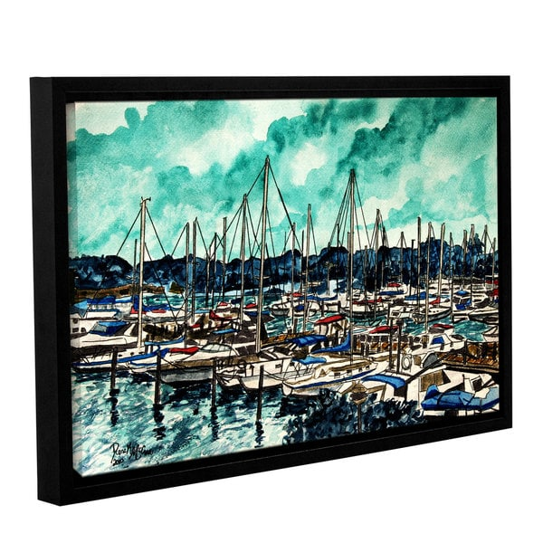 ArtWall Derek Mccrea 'Melbourne Florida' Gallery-wrapped Floater-framed Canvas