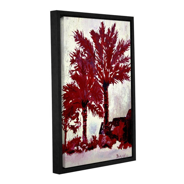 ArtWall Derek Mccrea 'Palm Trees' Gallery-wrapped Floater-framed Canvas